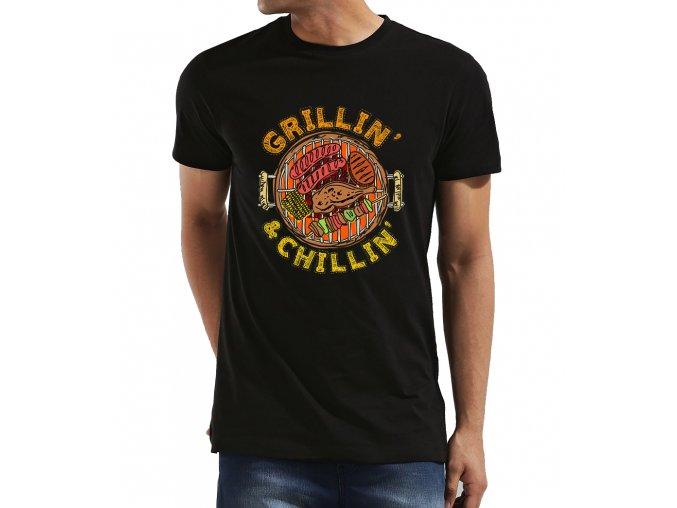 Pánské tričko Grilování a pohoda