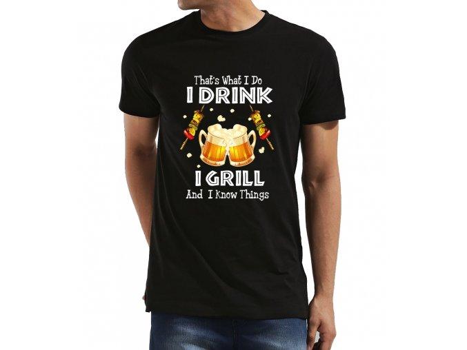 Pánské tričko Griluji a piju