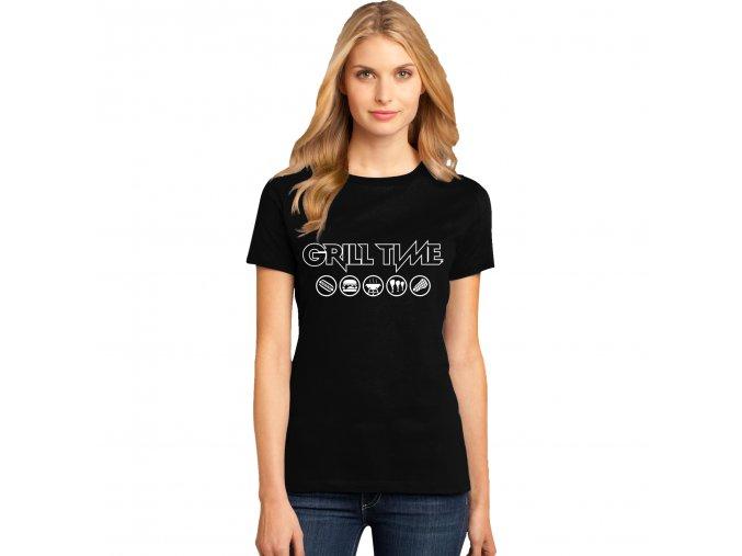 Dámské tričko Čas grilovat