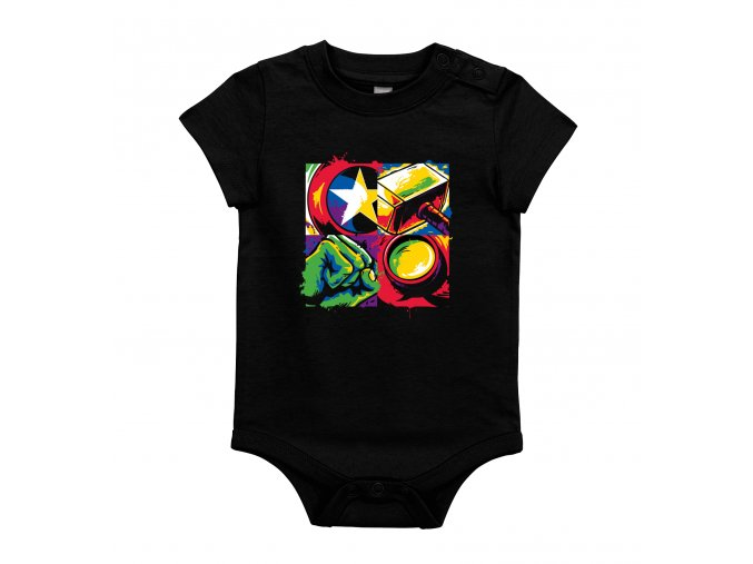 těhotenské body Ironman, Thor, Kapitán amerika, hulk