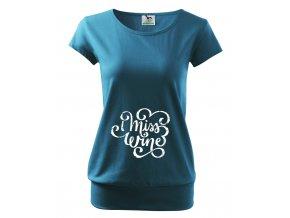 těhotenské modré tričko chybí mi víno