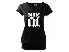 těhotenské černé tričko máma jednička