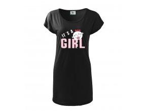 těhotenské černé šaty je to holka