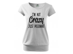 těhotenské bílé tričko nezblázlila jsem se, jen jsem těhotná
