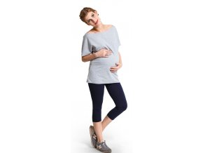 Těhotenské legíny Short leggins – Námořnická modrá