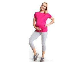 Těhotenské legíny Short leggins – Šedé
