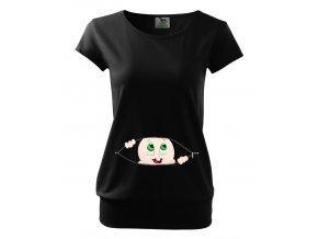 těhotenské tričko Miminko Sleduje