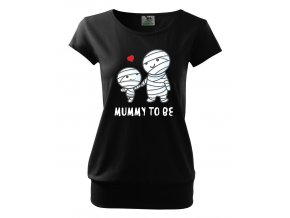 těhotenské tričko máma,mumie budu černé