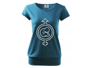 těhotenské tričko miminko chlapeček nebo holčička modré