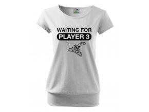 těhotenské tričko čekáme na třetího hráče