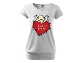 těhotenské tričko miminko miluji svojí maminku