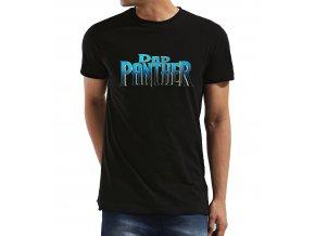 Pánské tričko pro tatínka Black Dad Panther