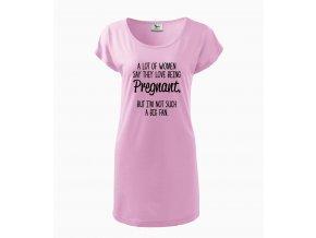 Těhotenské šaty Hodně žen říká, že miluje těhotenství, já nejsem moc fanoušek