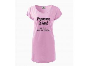 Těhotenské šaty Těhotenství je těžké, to je vše, děkuji za naslouchání