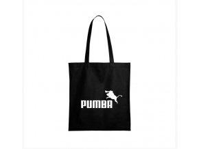 nákupní taška černá pumba parodie puma