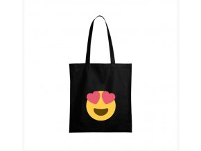 nákupní taška černá facebook smajlík Láska