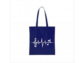 nákupní taška modrá muzika