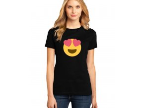 dámské černé tričko FACEBOOK SMAJLÍK LÁSKA