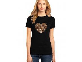 dámské černé tričko MILUJI KNÍŽKY