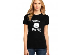 dámské černé tričko NESNÁŠÍM LIDI
