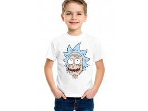 dětské bílé tričko Rick and Morty Rick