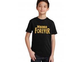 Dětské tričko wakanda navždy