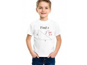 Dětské tričko Matematika spočítej X