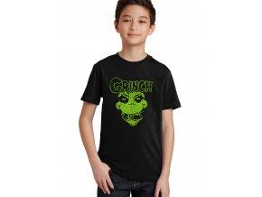 Dětské tričko The Grinch Obličej