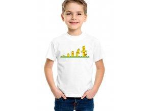 Dětské tričko Lego panáček evoluce