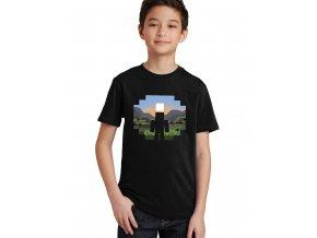 Dětské tričko Minecraft Krajina