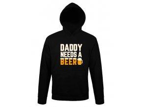 Mikina s kapuci Tatínek potřebuje pivo