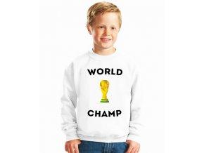 dětská mikina Fotbal mistr světa
