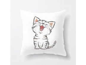 polštář kočička