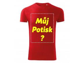 Pánské červené tričko vlastní potisk Předek Velký potisk
