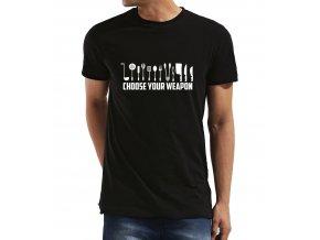 Pánské tričko Vyber si svojí zbraň Kuchař