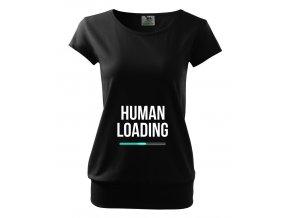 těhotenské černé tričko člověk se načítá