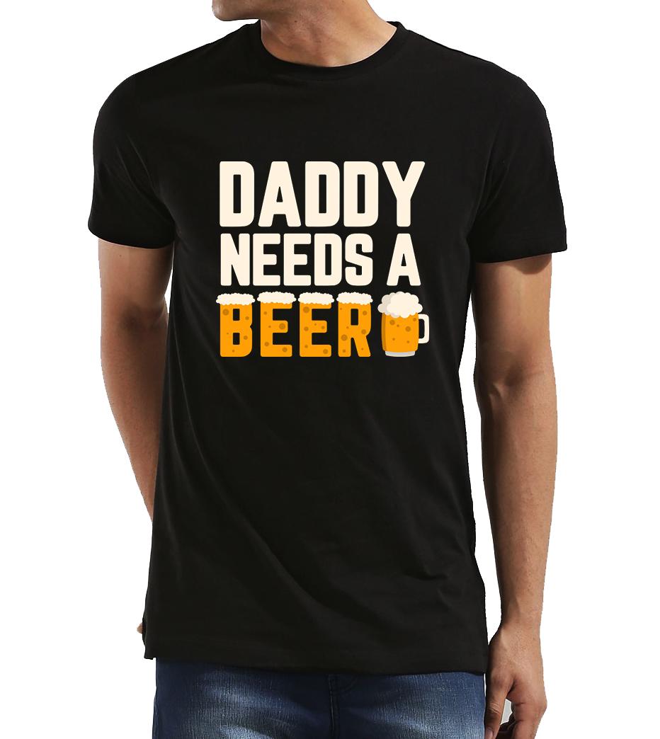 Pánské tričko pro tatínka - Tatínek potřebuje pivo Velikost  L a65b5d3e82