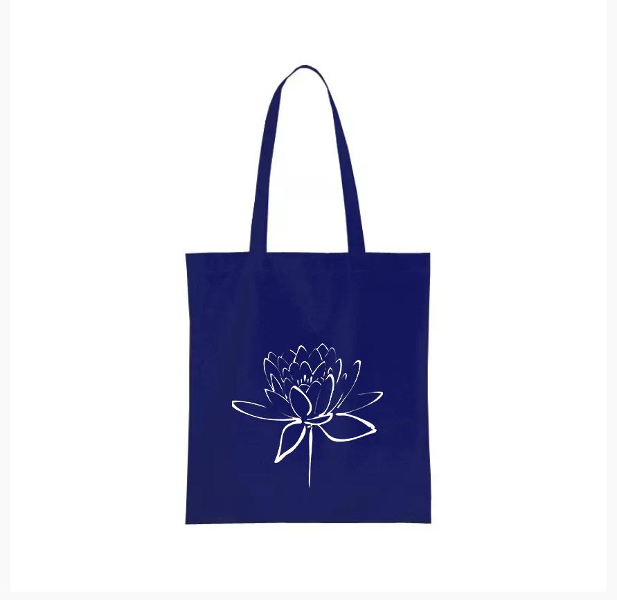 Nákupní taška lotosový květ Barva: Modrá
