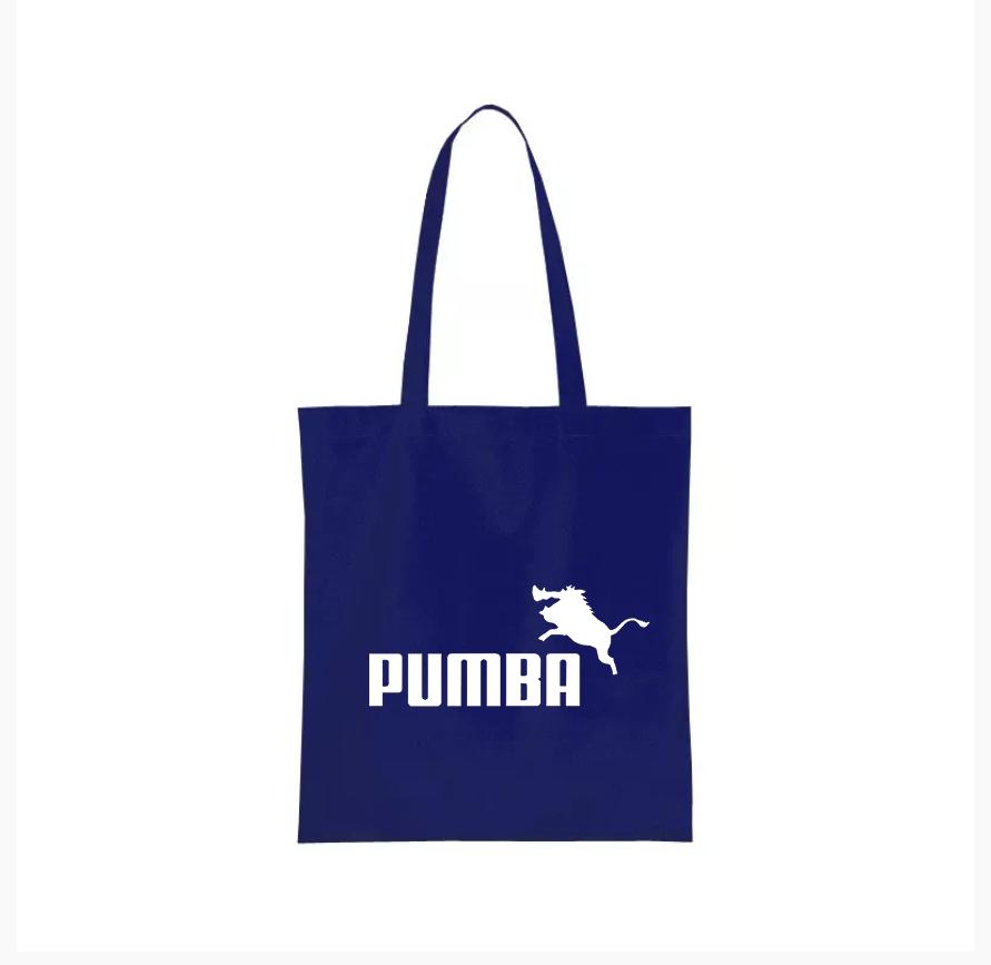 Nákupní taška pumba parodie puma Barva: Modrá