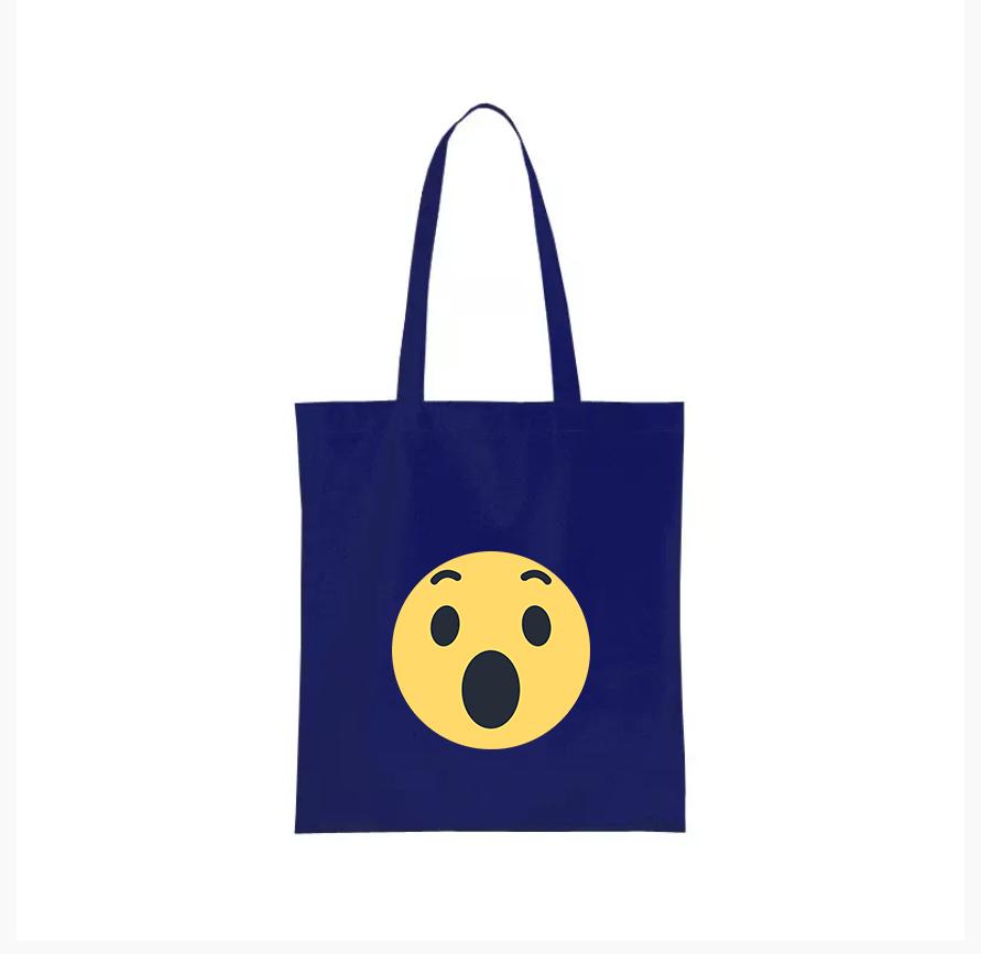 Nákupní taška facebook smajlík super Barva: Modrá