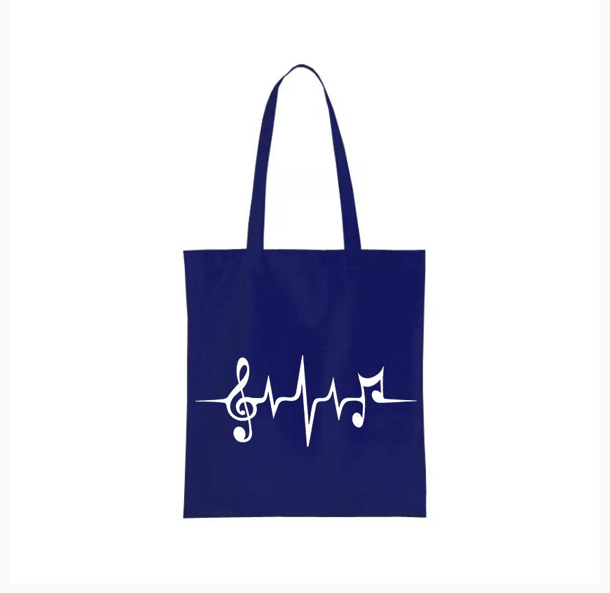 Nákupní taška muzika Barva: Modrá