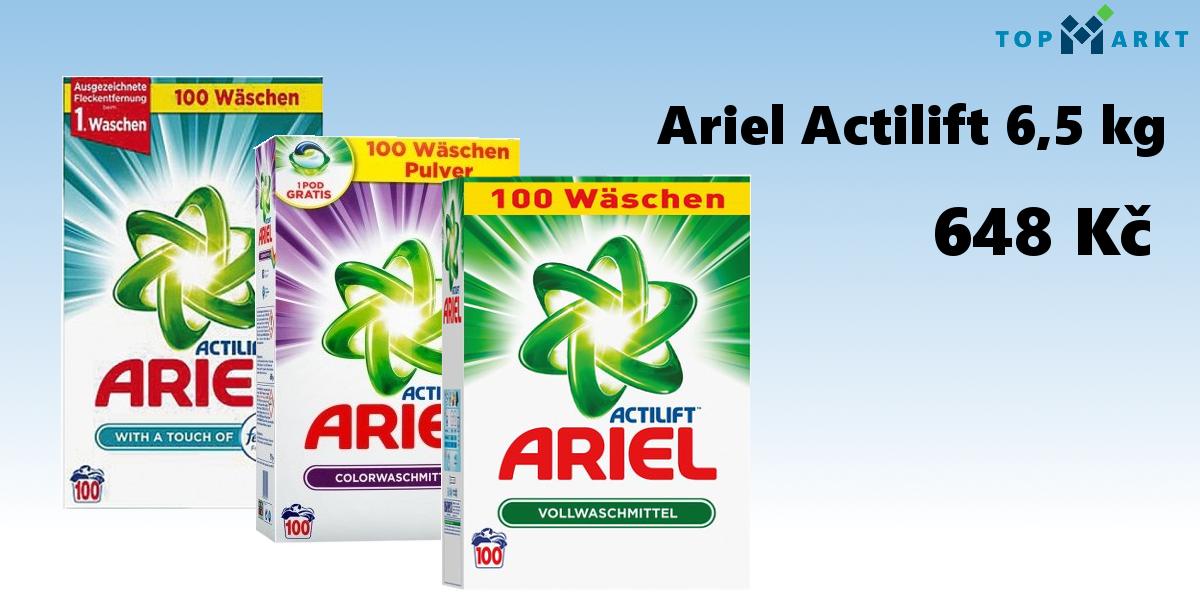 Německé prášky Ariel Actilift 6,5 kg - 648 Kč