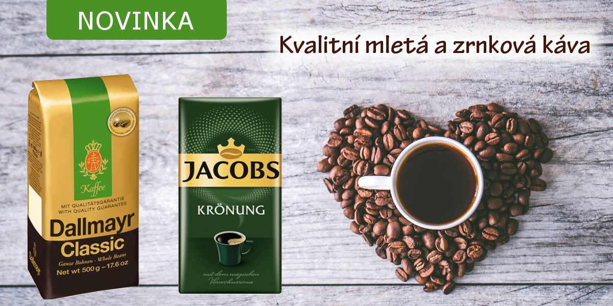 Nově skladem kvalitní zrnková a mletá káva
