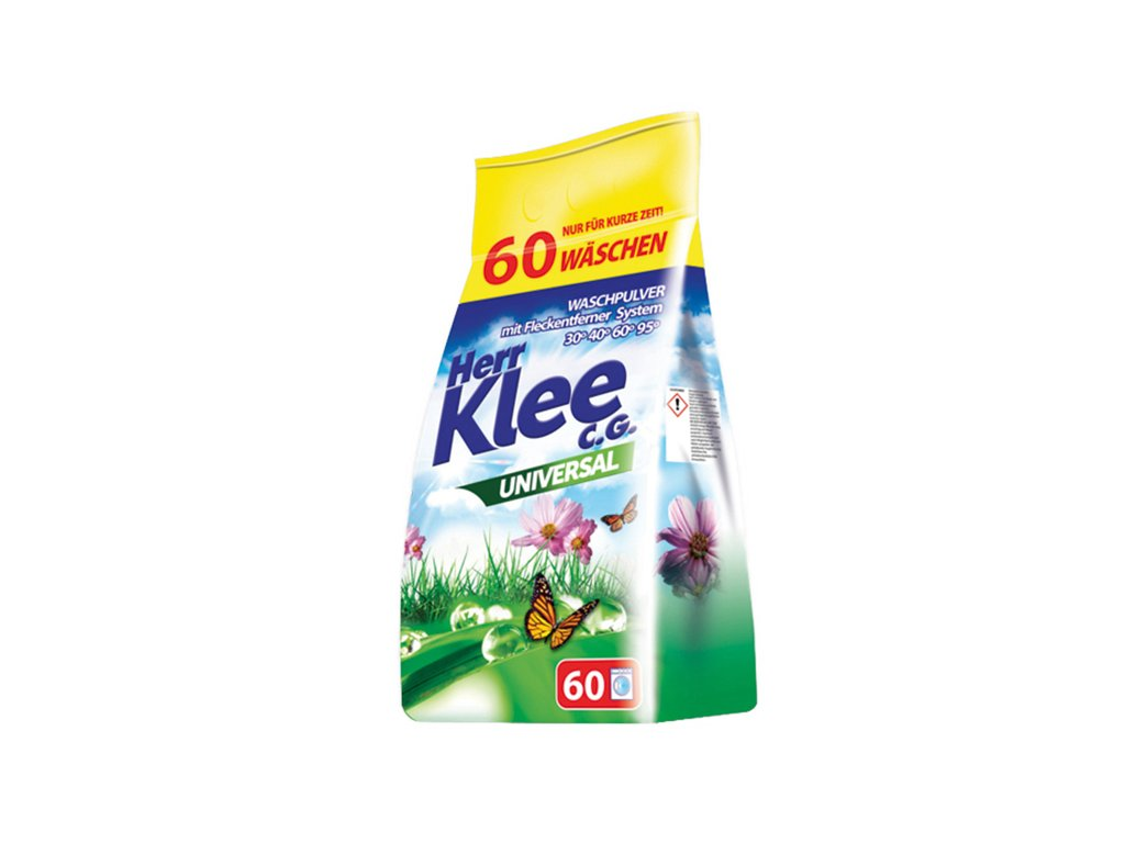 Klee Universal Prášek na praní bílého a barevného prádla 60 Pracích cyklů