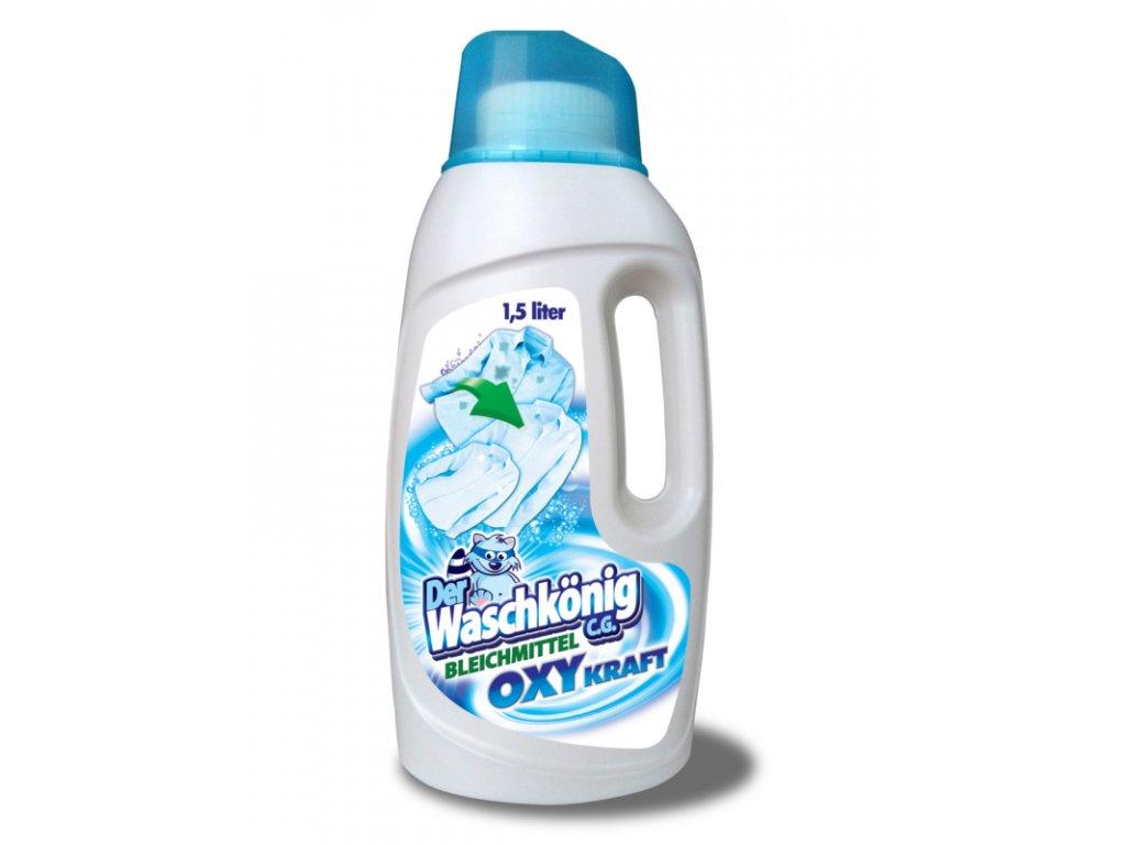 Waschkönig OXY Kraft Weiss Gel - Odstraňovač skvrn pro bílé prádlo 1,5l