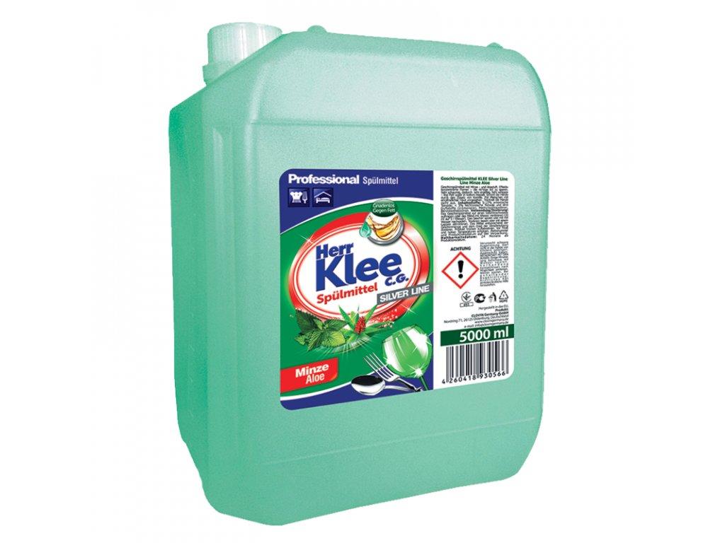 Klee Professional Prostředek pro ruční mytí nádobí s vůní Máty a Aloe Vera 5l