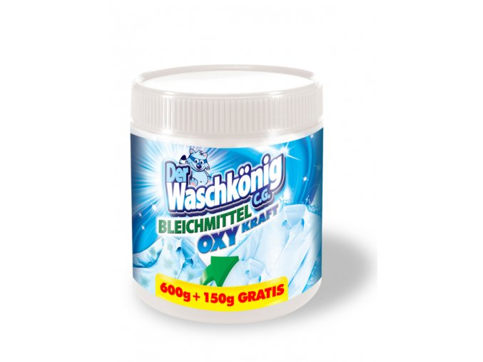 Waschkönig OXY Kraft Weiss - Odstraňovač skvrn pro bílé prádlo 750g