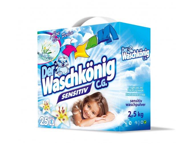 Waschkönig Sensitive Prášek na praní bílého a barevného prádla 22 pracích cyklů