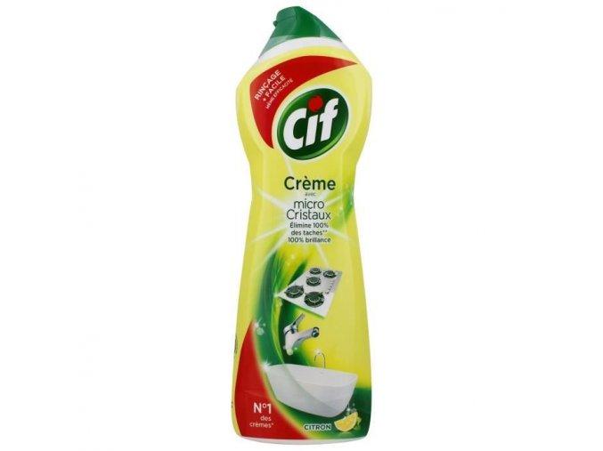 cif creme a recurer parfum citron 750ml
