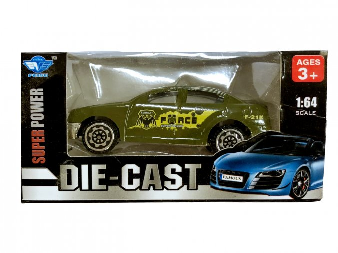 Auto 1:64 zelené